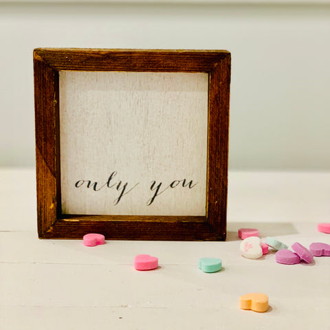 """only you"" petite word board"
