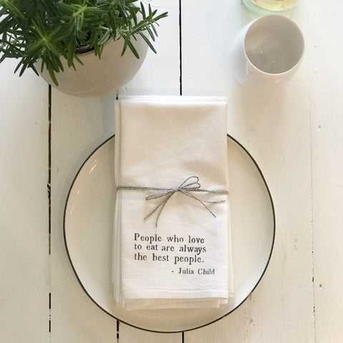 """people who love to eat"" napkins"