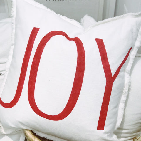"""JOY"" large pillow"