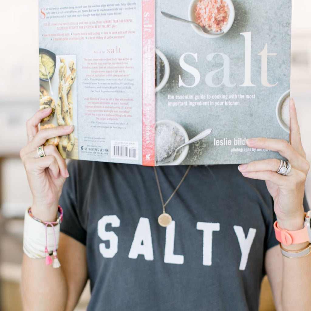 """Salty"" Tee in Gray"