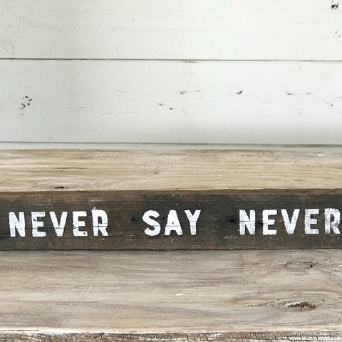 """Never Say Never"""