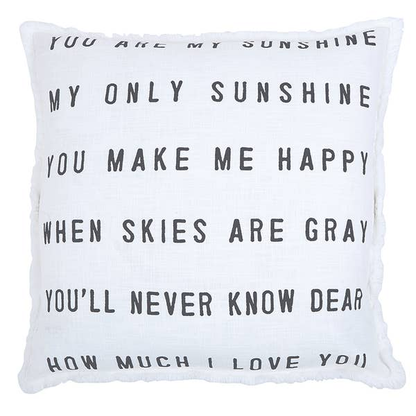 "YOU ARE MY SUNSHINE..."" LARGE EURO PILLOW"