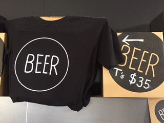 """BEER"" T Shirt Mens"