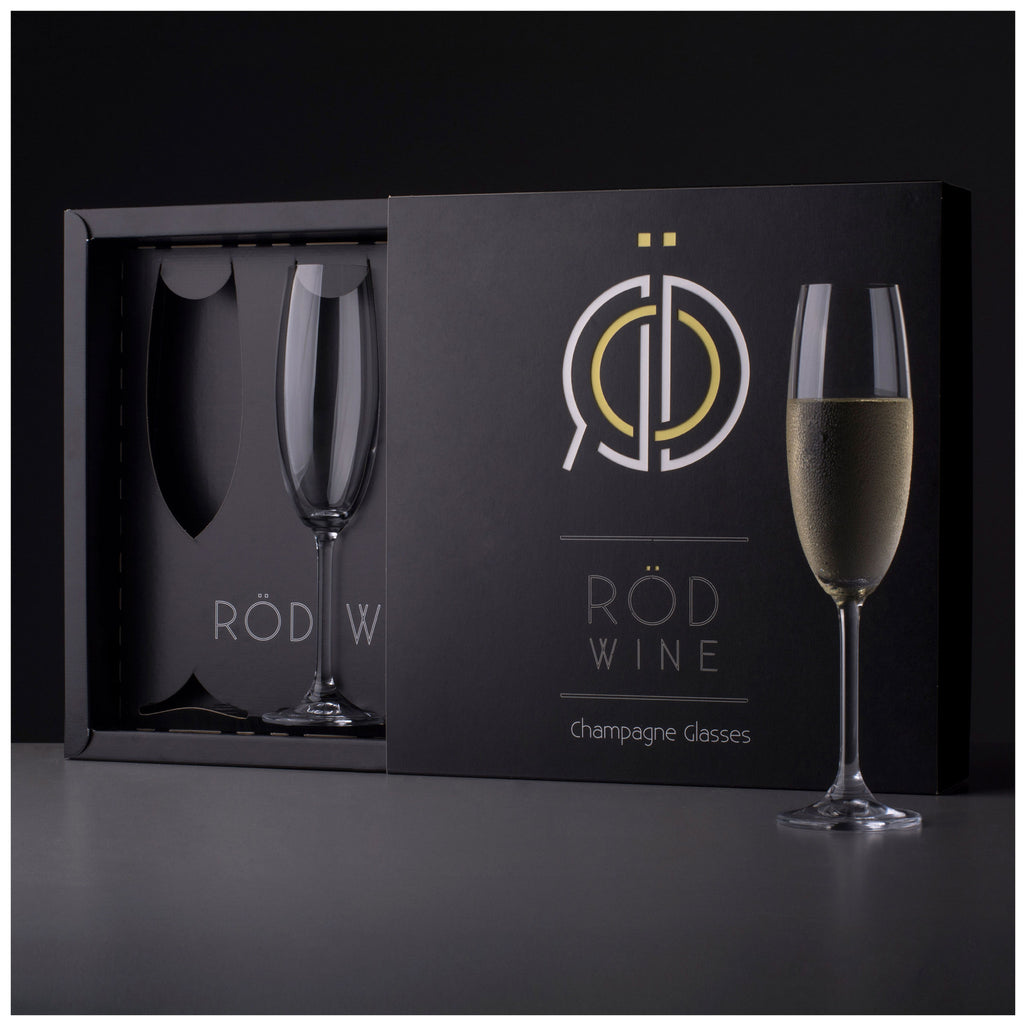 RÖD Wine Champagne Glasses