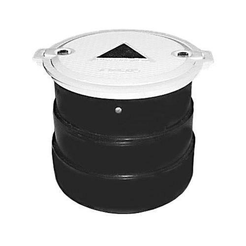 Manhole-Monitor-Wel,-12-X12-Bolt-down-White-Ductile-Lid-Poly-Skirt-W-Tabs-for-Rebar