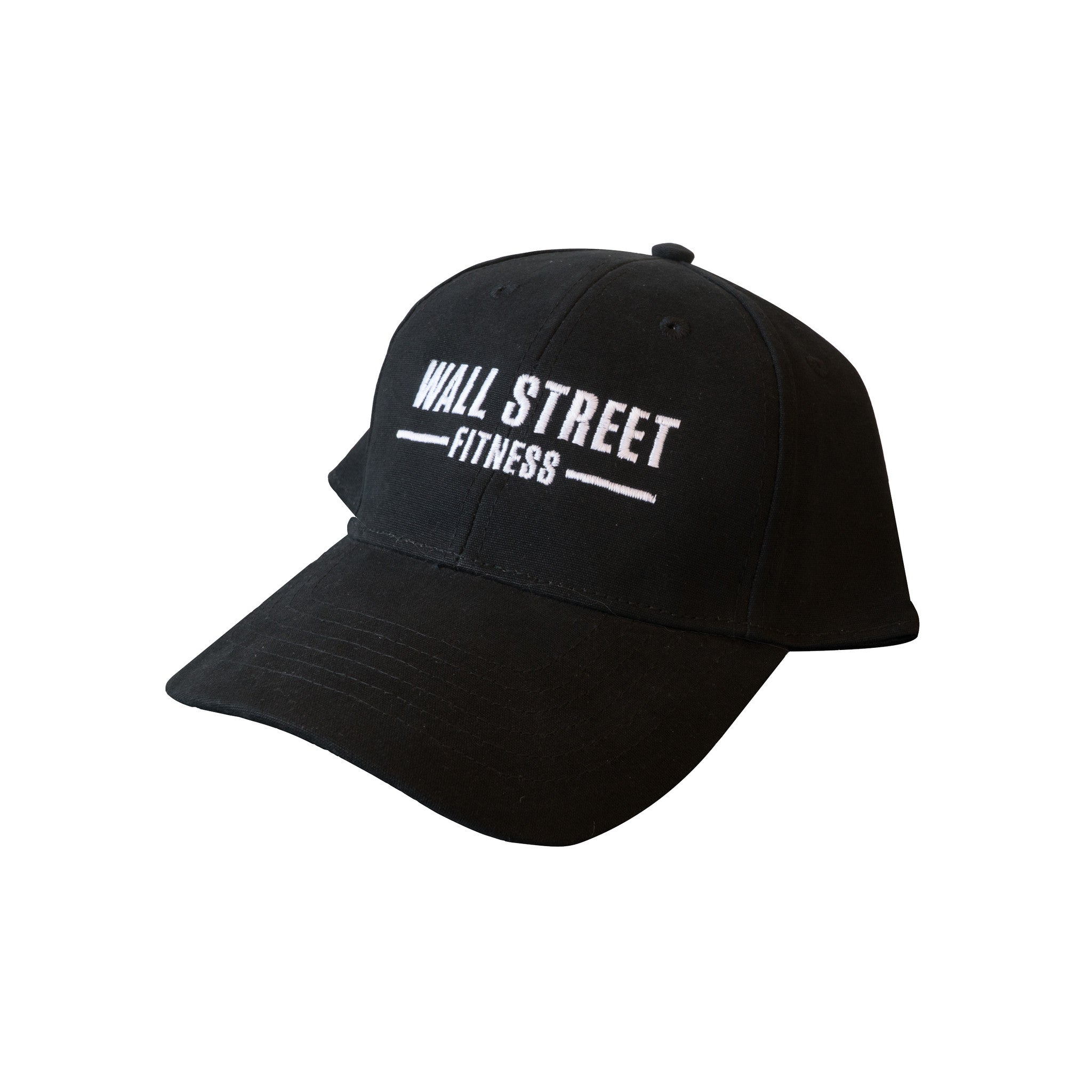 Baseball cap, white on black