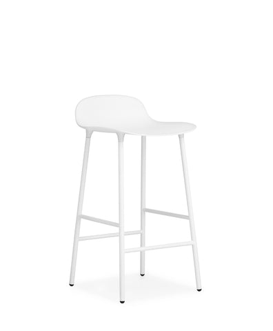 Form Counter Stool, Metal Leg Finishes