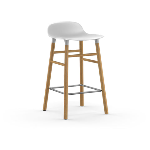 Form Counter Stool, Wood Leg Finishes