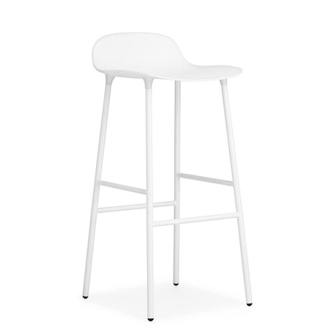 Form Bar Stool, Metal Leg Finishes