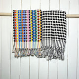 Dotted Pattern Turkish Terry Hand Towels