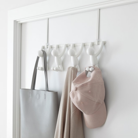 Buddy Over The Door/Wall Hooks, 4 Hooks