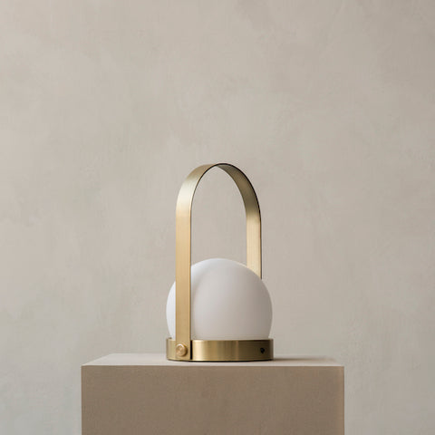 Carrie LED Wireless Lamp, Brass
