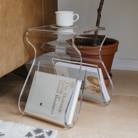 Magino Stool & Magazine Rack