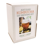 Grow and Make Artisan Kombucha DIY Brewing Kit comes with a large glass jar