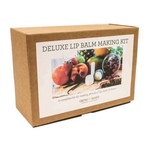 Deluxe DIY Lip Balm Making Kit with Tubes, Tubs, and Tins