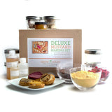 Deluxe Mustard Making Kit with ingredients, jars, and easy instructions for homemade gourmet mustard