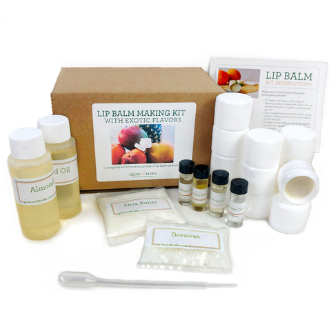 DIY Exotic Flavors Lip Balm Making Kit with Tubs
