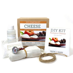 Farmer's Cheese Making Kit for cheesemaking beginners - supplies and instructions. All you need is milk