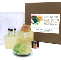 DIY Organic Glycerin Soap Making Kit - Learn How to Craft Custom Scented and Dyed Soap Bars