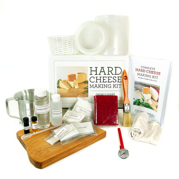 Make fresh cheddar, gouda, manchego, and colby cheese with a DIY Hard Cheese Making Kit