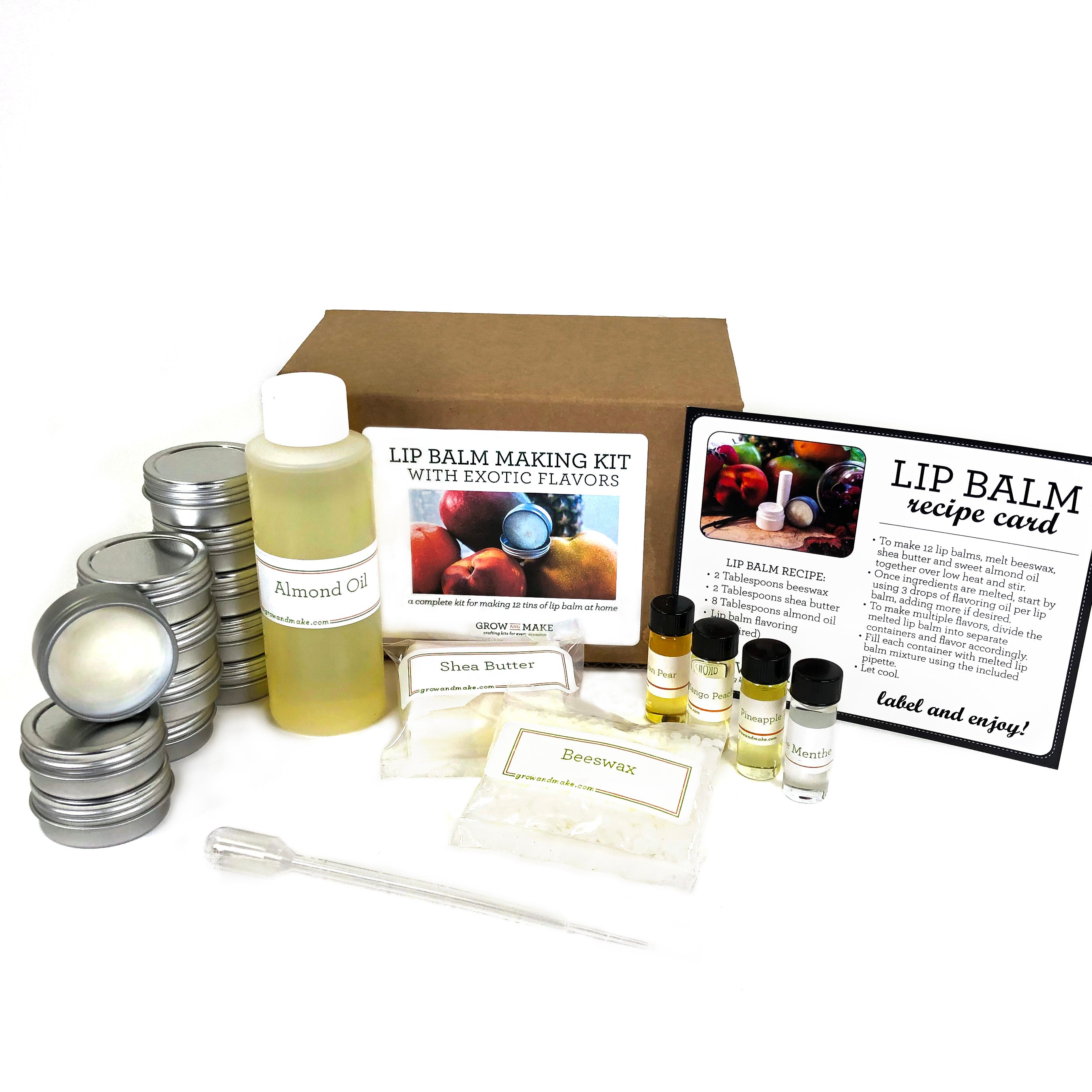 Diy Exotic Flavors Lip Balm Kit Make Your Own Pineapple
