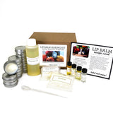 DIY Lip Balm Making Kit with Exotic Flavors - Make 12 tins of lip balm with almond oil, shea butter, and tropical scents
