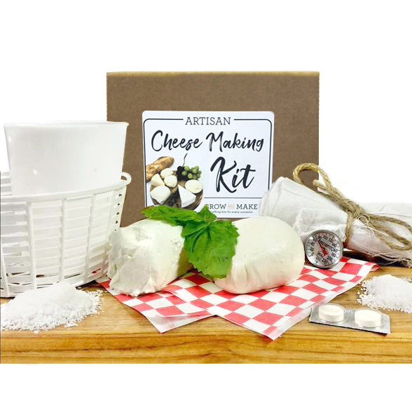Artisan Cheese Making Kit - make your own mozzarella, ricotta, chevre, paneer, and queso blanco
