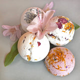 Craft homemade botanical bath bombs with simple instructions and supplies from Grow and Make