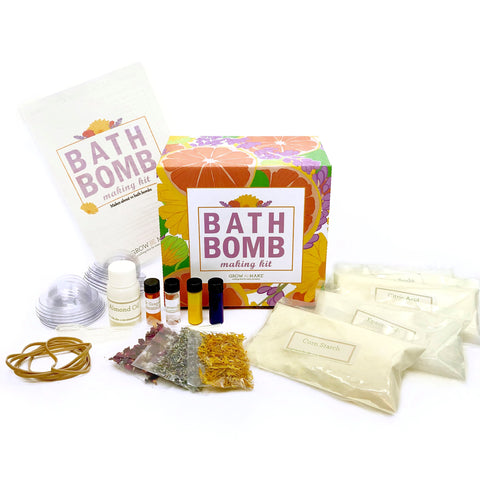 DIY Bath Bomb Making Kit - Learn how to make your own all-natural bath bombs with lavender and calendula!