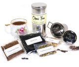 Chai Tea Making Kit contains ingredients and recipes for homemade chai spice tea
