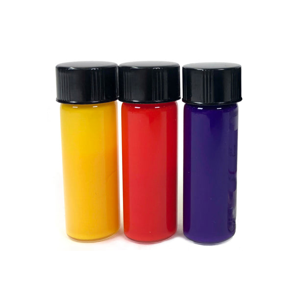 Easy-to-use dyes for soap, bath bombs, and more! Cosmetic colorants come in yellow, purple, and red