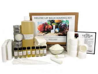 Deluxe DIY Lip Balm Making Kit - Craft 36 tins, tubes, and tubs of homemade chapstick