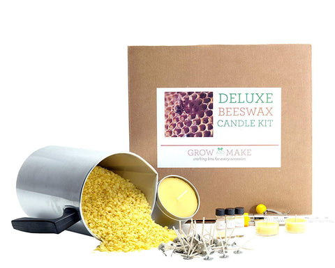 Deluxe Beeswax Tin Candle Making Kit