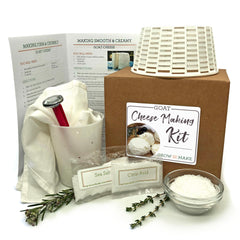 Goat Cheese Making Kit with all the supplies and instructions you need to make your own chevre