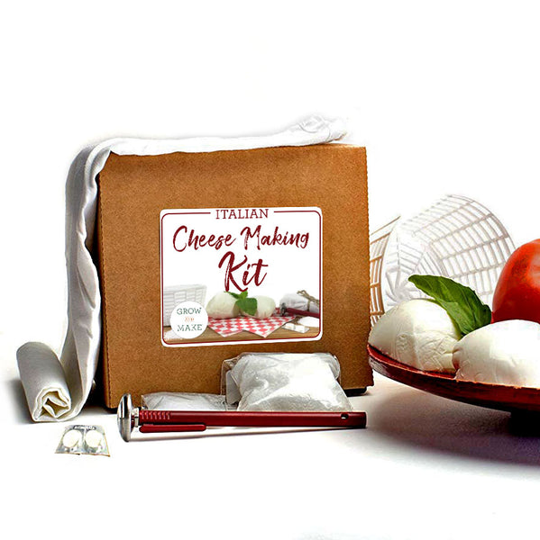 Make fresh mozzarella and ricotta cheese with this Italian Cheese Making Kit