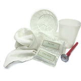 Cheese making kit includes chevre mold, basket mold, cheesecloth, rennet tablets, flake salt, citric acid, thermometer, recipes