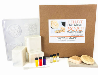 DIY Oatmeal Soap Making Kit - Learn How to Craft Custom Scented and Dyed Soap Bars