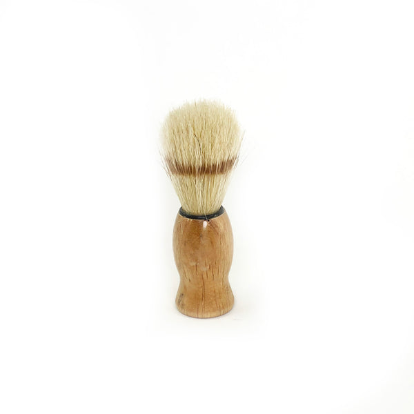 Wood-handled shaving brush