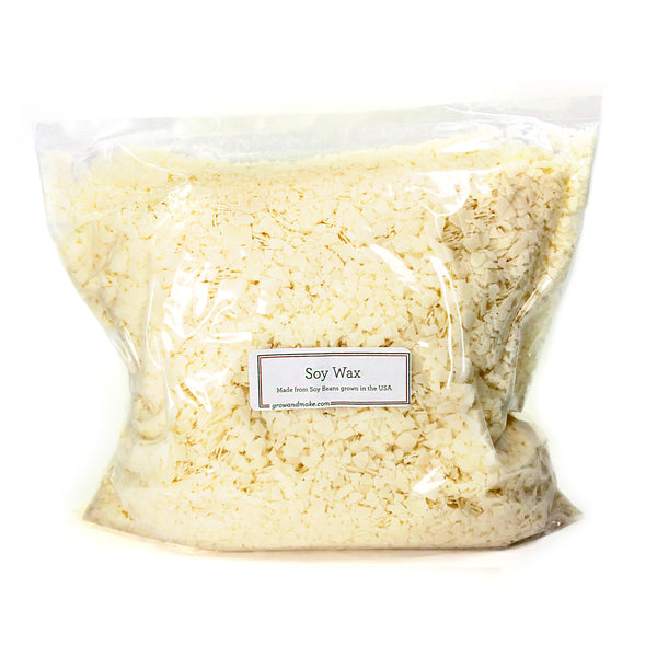 Soy candle wax flakes, bulk, made from USA-grown soybeans