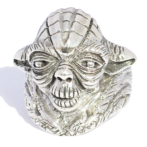 Sterling Silver YODA RING Star Wars Jewelry Master Jedi Ring in Sterling Silver 925 - Custom Fitted size 4 to 16