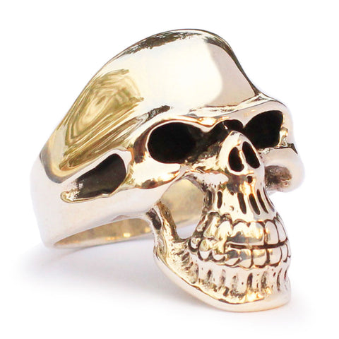 Bronze Phantom Streetfighter Skull Ring -Ghost Rider Biker Ring