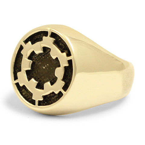 Bronze Death Star Ring Galactic Empire Imperial Crest in Bronze Star Wars Ring