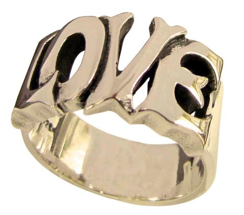 LOVE Ring Lettered Word in Bronze
