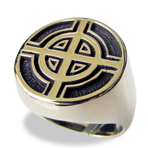 Bronze Celtic Cross Ring Irish Cross Symbol