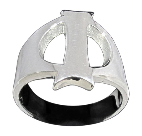 Capital Initial I Ring Block Letter in Sterling Silver 925