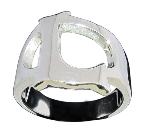 Capital Initial L Ring Block Letter in Sterling Silver 925