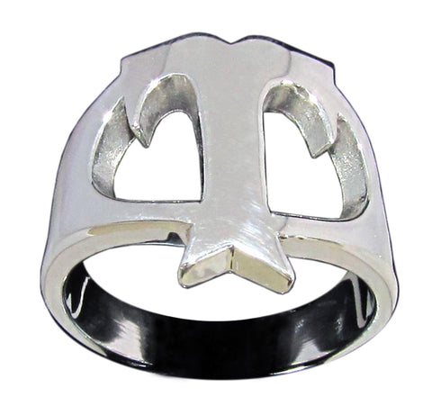 Capital Initial T Ring Block Letter in Sterling Silver 925