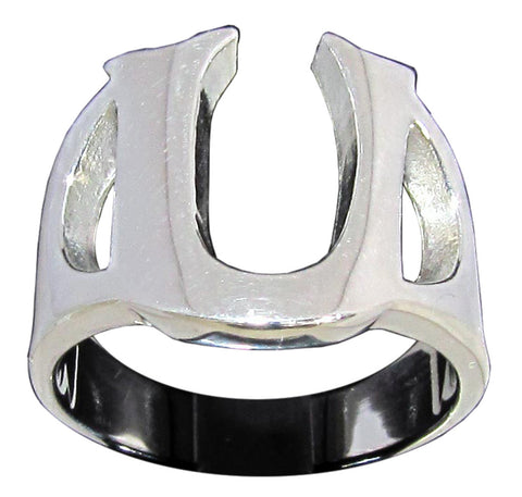 Capital Initial U Ring Block Letter in Sterling Silver 925