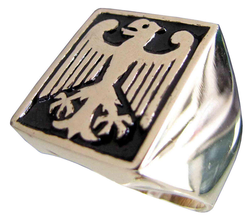 Bundesadler Federal Eagle Ring German Coat of Arms in Bronze