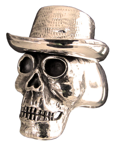Bronze Cowboy Skull Ring - Size 16